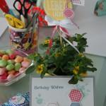 1. Workshop 2014 Pflanzenstecker, Grußkarte und Gastgeschenk