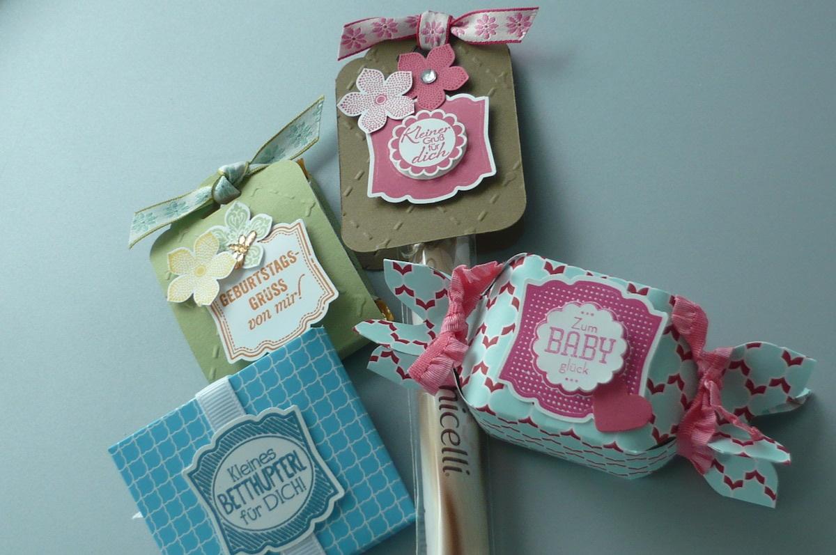Give Aways für Stadtmarkt Ritter-Sort-Verpackung, Knallbonbon, Amicelli mit Anhänger