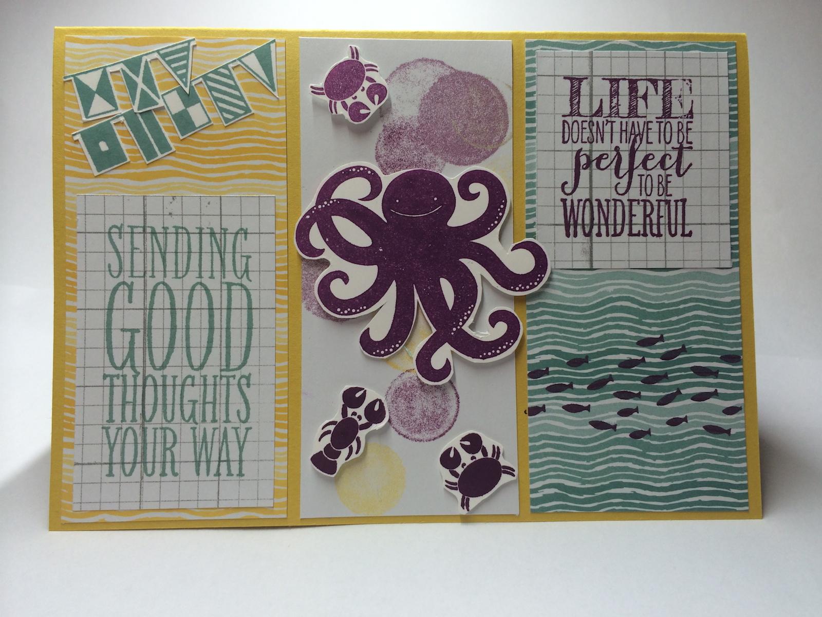 Stempelset Wimpeleien, Sea Street, Designpapier Mondschein