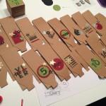 Workshop-Adventkalender von Stampin up in Chili und Olivgrün