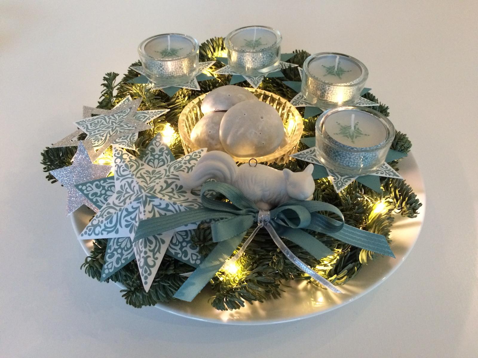 Adventkranz, Lagunenblau, Zauber der Weihnacht