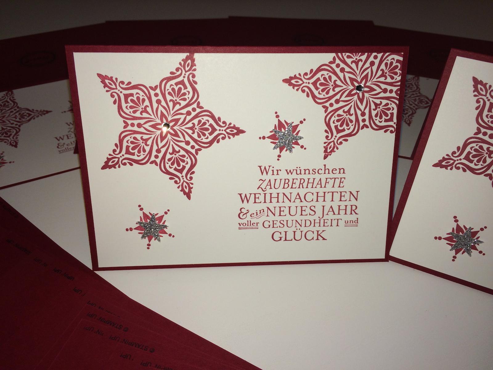 Weihnachtskarten Auftrag 2014 Steffes Steinmetz