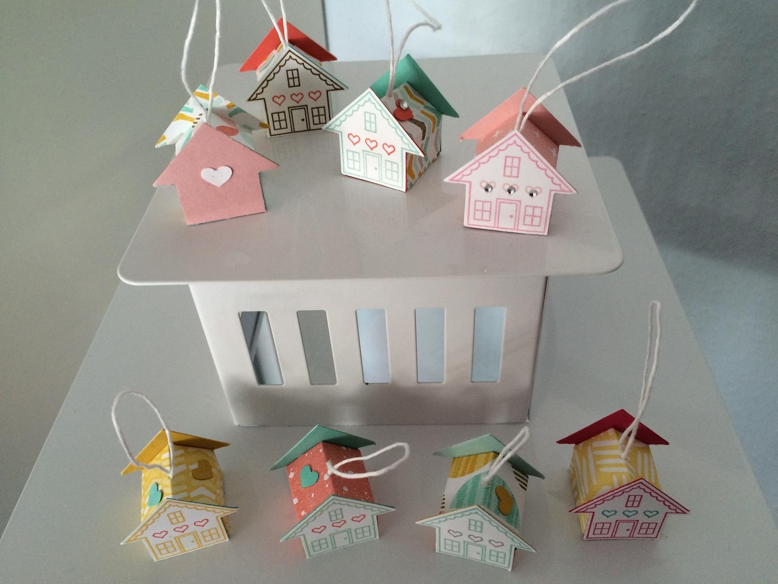Fertige Mini Häuschen Stampin´Up Mein Lichtblick