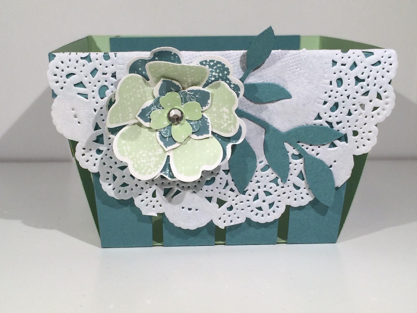 Stampin up Körbchen Berry Basket Flowershop Petit Petals