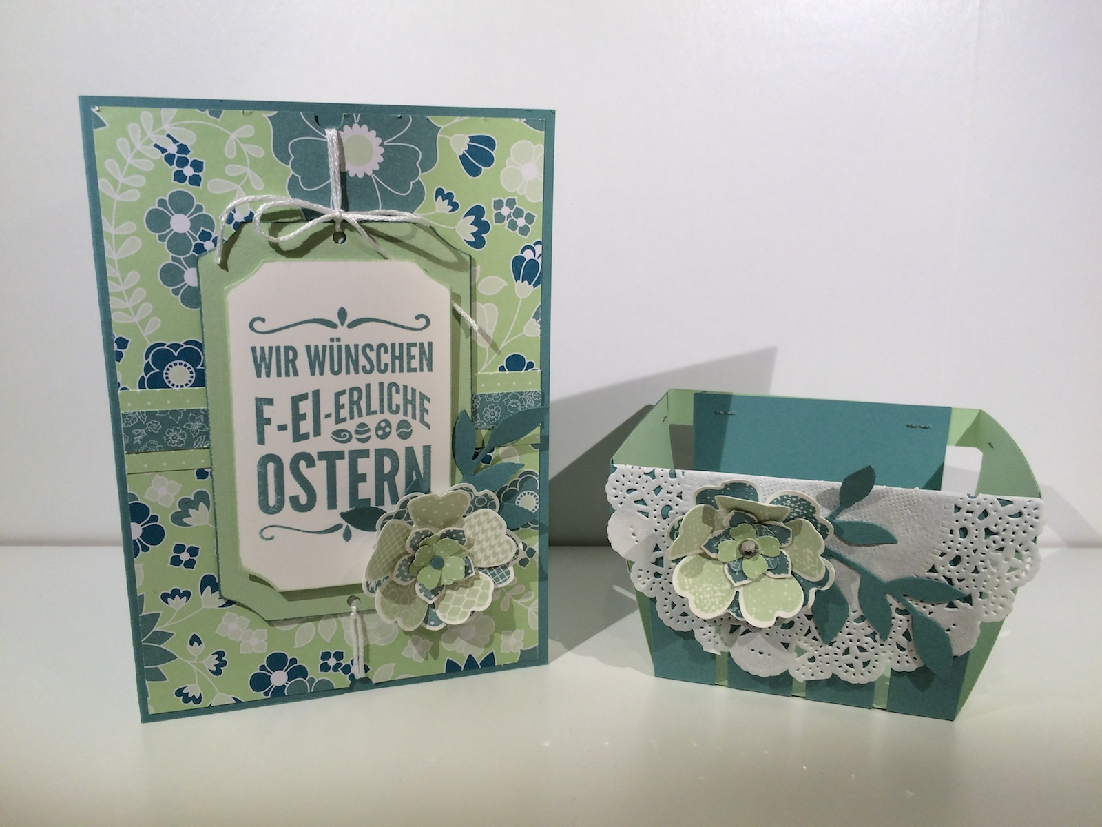 Stampin up Osterkarte Körbchen Berry Basket Eastercard Ei,ei,ei! For Peeps Sake Flowershop Petit Petals Aufgeblüht, All Abloom