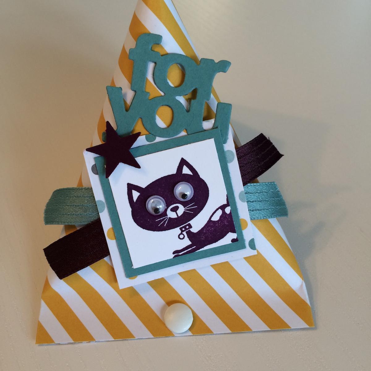 Sour cream container, Katze, Cat, Poesie auf vier Pfoten, You Little Furball, Designpapier Moonlight