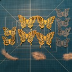 Alle benötigten Schmetterlinge auf einen Blick Stampin´UP!,Schmetterlings-Girlande, Butterfly Garland, Butterfly Thinlits, Thinlits Schmetterlinge