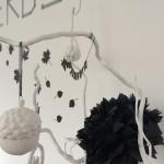 Herbstliche Wohndeko in schwarz/weiß