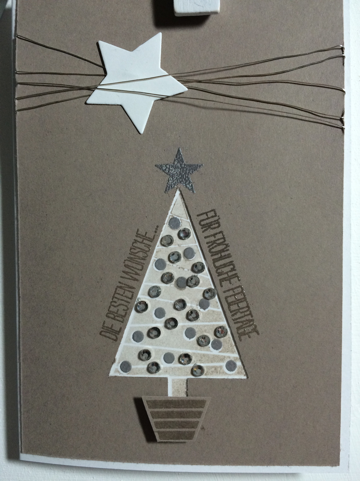 Stampin´UP!, Christbaumfestival, Festival of trees, Weihnachtskarte, Christmascard, Tip Top Taupe