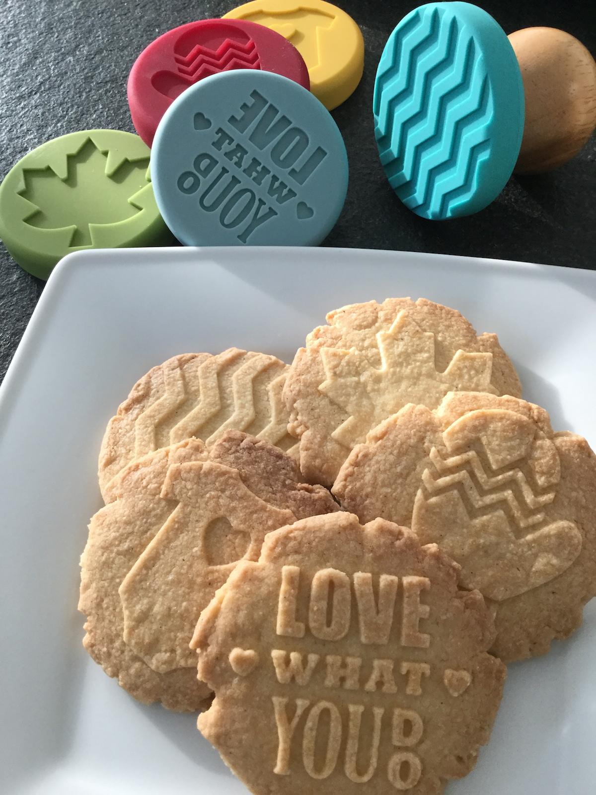 Fertige Keksstempel Kekse