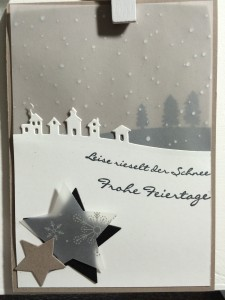 Stampin´UP!, Schlittenfahrt, Sleigh Ride, Kling, Glöckchen, Jingle all the way, Weihnachtskarte, Christmascard, Tip Top Taupe