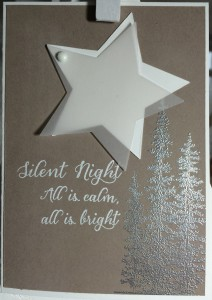 Stampin´UP!, Wonderland, Weihnachtskarte, Christmascard, Tip Top Taupe