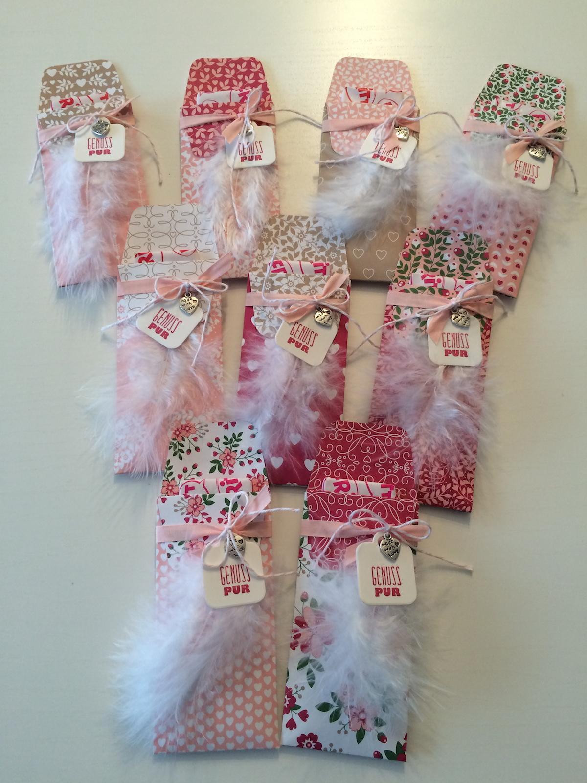 Stampin up, Fritt verpackung, Designpapier Liebesblüten, Stanz- und Falzbrett für Geschenktüten