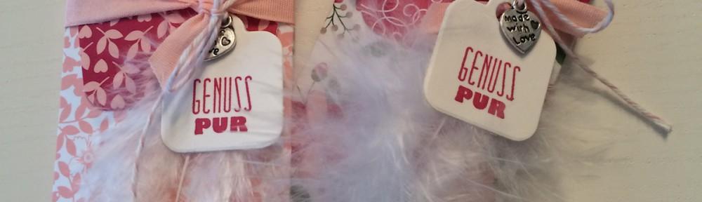 Stampin up, Fritt verpackung, Designpapier Liebesblüten, Stanz- und Falzbrett für Geschenktüten 2