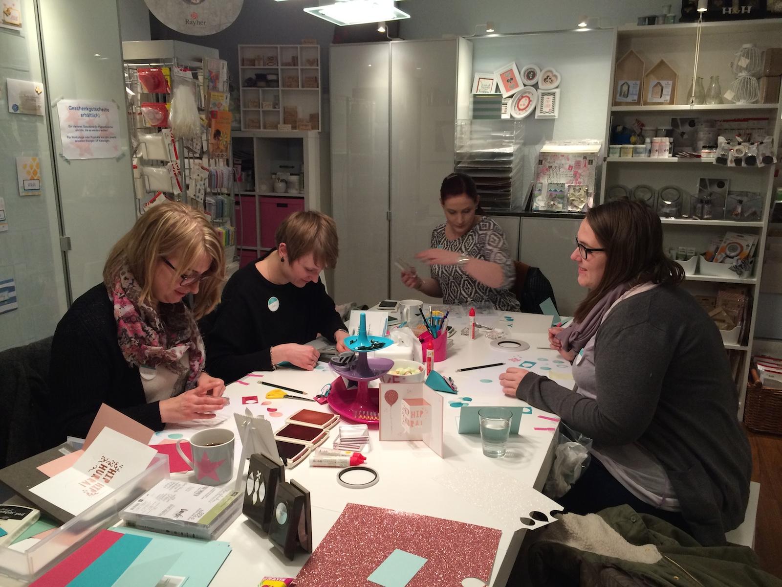 Stampin up Workshop Geburtstagskarte und Osterkarte1