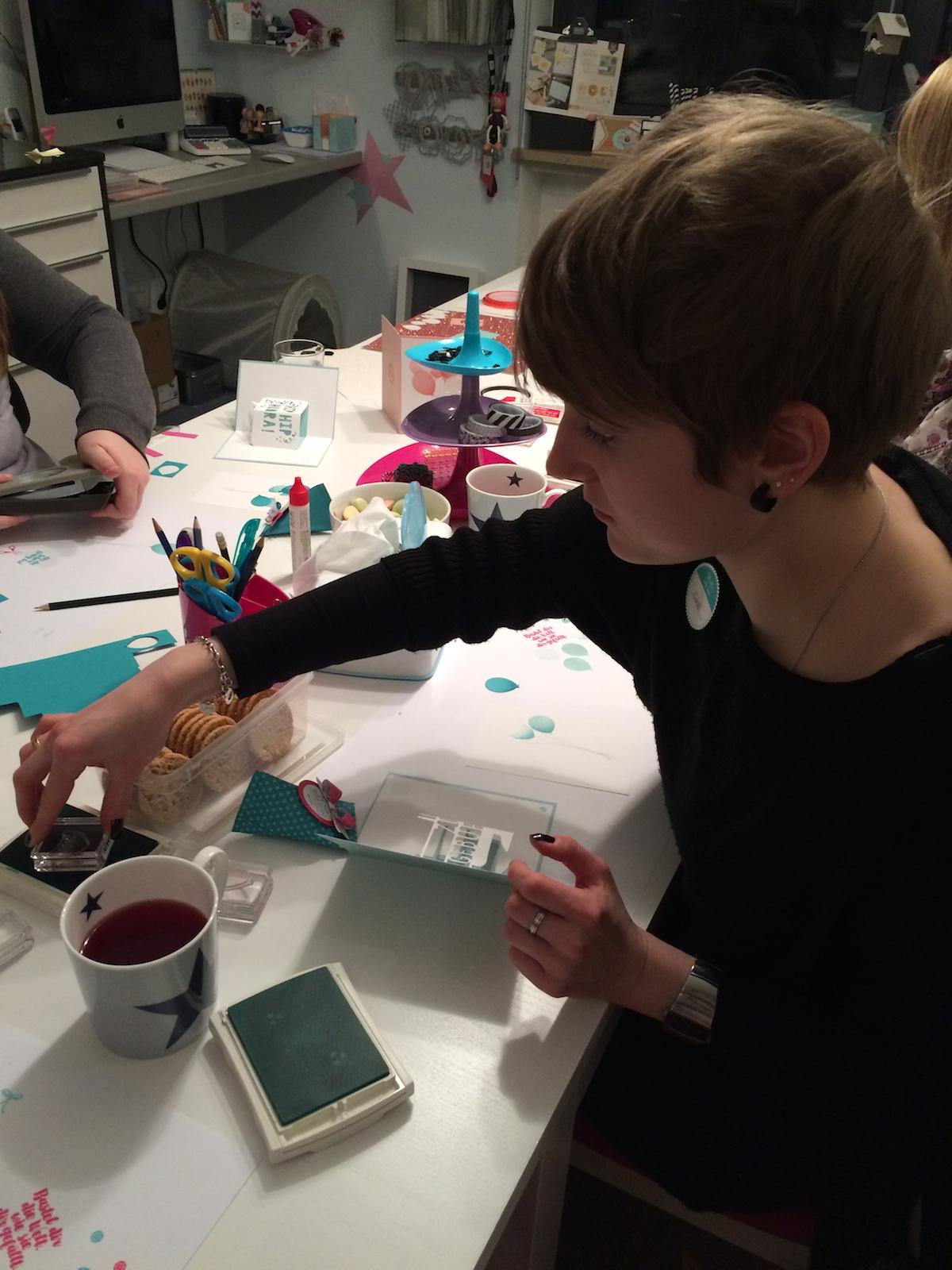Stampin up Workshop Geburtstagskarte und Osterkarte2