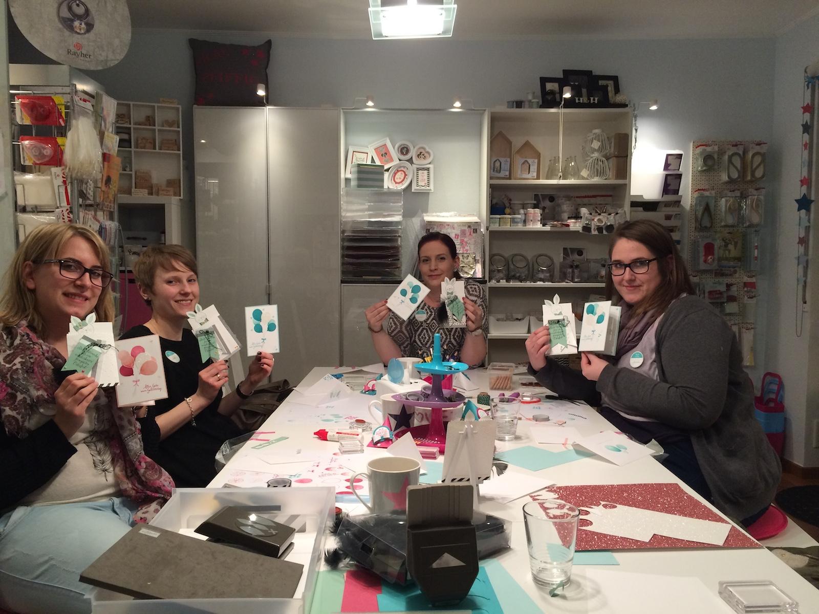 Stampin up Workshop Geburtstagskarte und Osterkarte4