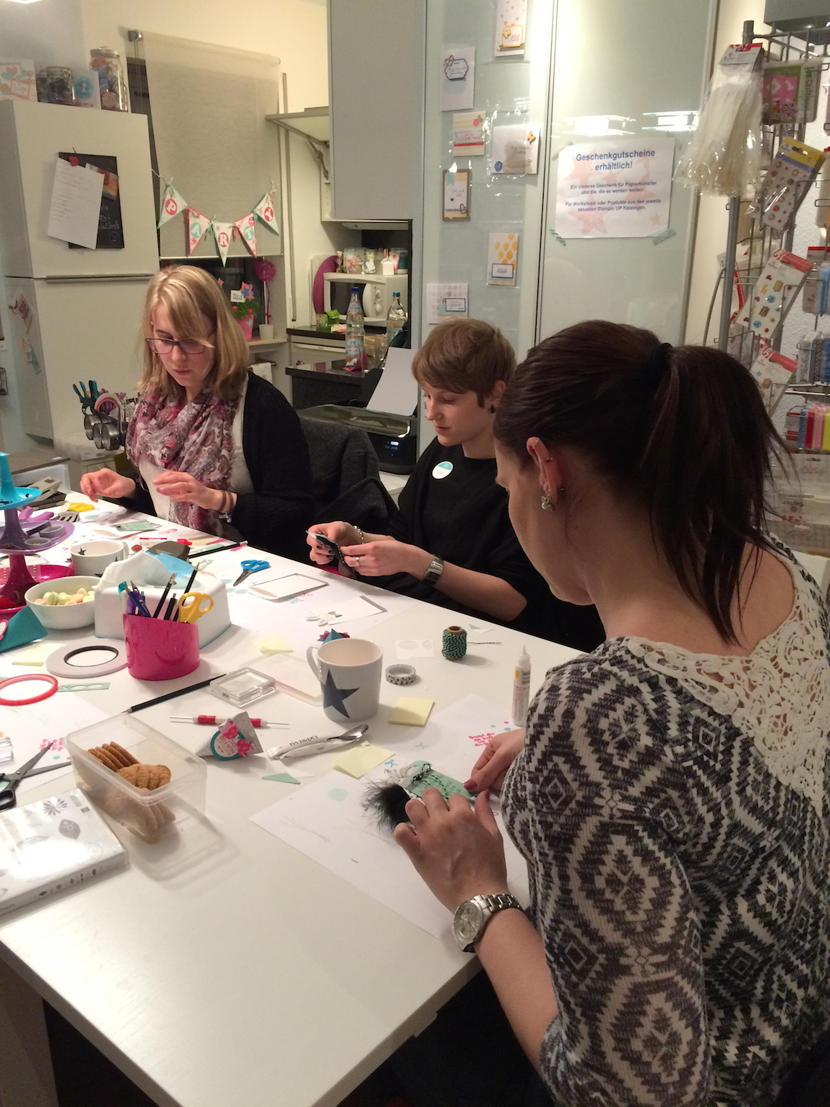 Stampin up Workshop Geburtstagskarte und Osterkarte9