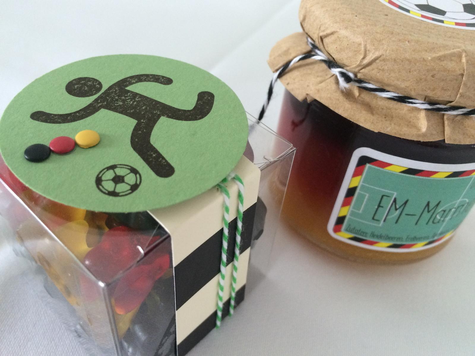 Stampin´UP! Teamtreffen bei Frau Pfiffig Goodies von Sabine EM Bärchen und EM-Marmelade