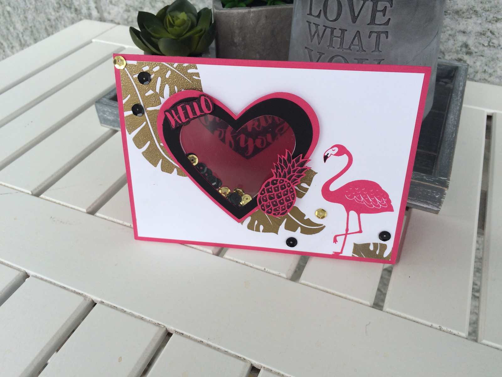 Stampin up pop of paradies, shaker card, schüttelkarte